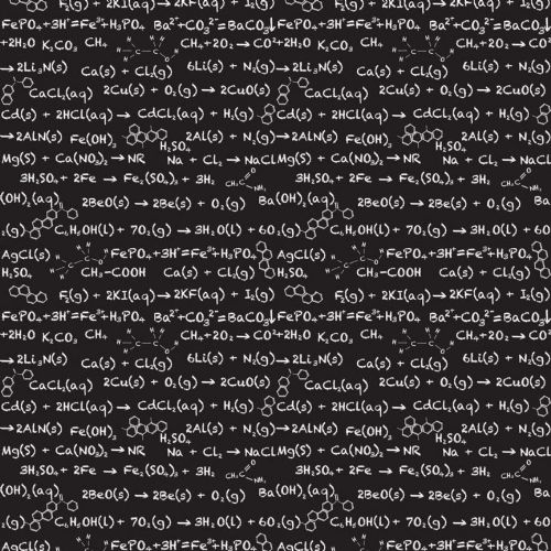 Riley Blake - Equation (Black) Fabric